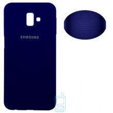 Чехол Silicone Cover Full Samsung J6 Plus 2018 J610 синий