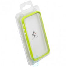 Чехол-бампер Apple iPhone 4 пластик салатовый