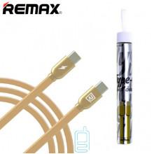 USB Кабель Remax RC-046a Type-C-Type-C золотистый