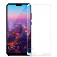 Защитное стекло Full Screen Huawei P20 Pro white тех. пакет