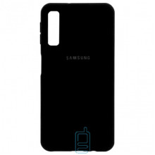 Чехол Silicone Case Full Samsung A7 2018 A750 черный