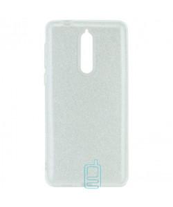 Чехол силиконовый Shine Nokia 8 серебристый