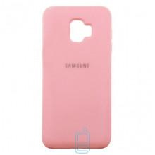 Чехол Silicone Case Full Samsung J2 2018 J250, J2 Pro 2018  розовый