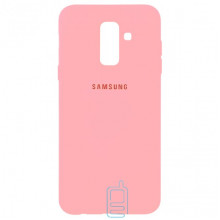 Чехол Silicone Case Full Samsung A6 Plus 2018 A605 розовый