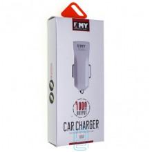 Автомобильное зарядное устройство EMY MY-110 1USB 1.0A Lightning white