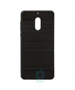 Чехол силиконовый Polished Carbon Nokia 6 черный