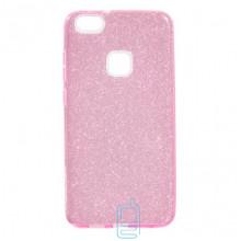 Чехол силиконовый Shine Huawei P10 Lite розовый