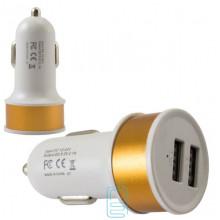Автомобильное зарядное устройство Car-006 2USB 2.1A gold без коробки