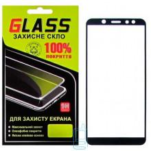 Защитное стекло Full Glue Samsung A6 2018 A600 black Glass
