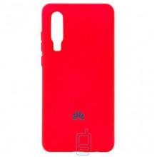 Чехол Silicone Case Full Huawei P30 красный