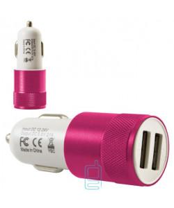 Автомобильное зарядное устройство Car-004 2USB 2.1A pink без коробки