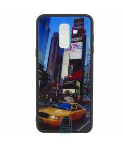Чехол накладка Glass Case New Samsung A6 Plus 2018 A605 такси