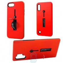Чехол противоударный Metal Kickstand Soft Touch с держателем Huawei P30 красный