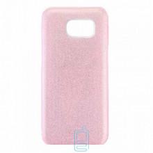 Чехол силиконовый Shine Samsung S7 Edge G935 розовый
