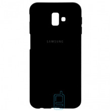 Чехол Silicone Case Full Samsung J6 Plus 2018 J610 черный