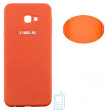 Чехол Silicone Cover Full Samsung J4 Plus 2018 J415 оранжевый