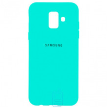 Чехол Silicone Case Full Samsung A6 2018 A600 бирюзовый