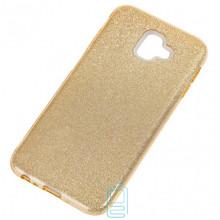 Чехол силиконовый Shine Samsung J6 Plus 2018 J610 золотистый