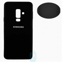 Чехол Silicone Cover Full Samsung A6 Plus 2018 A605 черный
