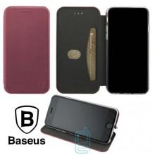 Чехол-книжка Baseus Premium Edge Samsung M30 2019 M305 бордовый
