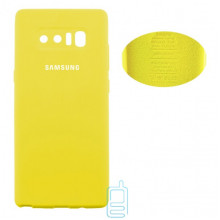 Чехол Silicone Cover Full Samsung Note 8 N950 желтый