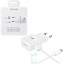 Сетевое зарядное устройство Samsung S8 Fast charger 1USB 2.0A Type-C white пластик