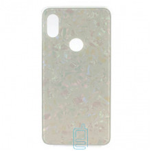 Чехол накладка Glass Case Мрамор Xiaomi Redmi S2, Y2 белый