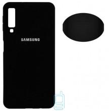 Чехол Silicone Cover Full Samsung A7 2018 A750 черный