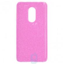 Чехол силиконовый Shine Xiaomi Redmi Note 4x розовый