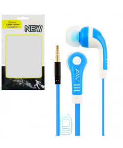 Наушники AIV - W в пакете синие