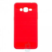 Чехол силиконовый Polished Carbon Samsung J2 Prime G532, G530 красный