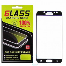 Защитное стекло Full Glue Samsung J7 2017 J730 black Glass
