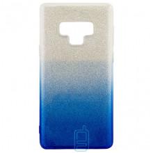 Чехол силиконовый Shine Samsung Note 9 N960 градиент синий
