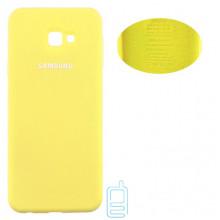 Чехол Silicone Cover Full Samsung J4 Plus 2018 J415 желтый