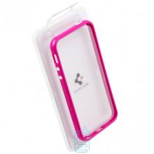 Чехол-бампер Apple iPhone 4 пластик розовый