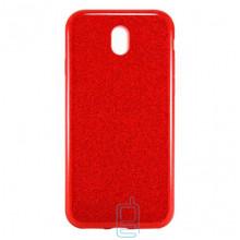 Чехол силиконовый Shine Samsung J3 2017 J330 красный