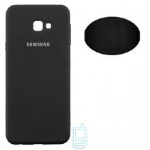 Чехол Silicone Cover Full Samsung J4 Plus 2018 J415 черный