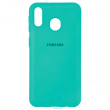 Чехол Silicone Case Full Samsung M20 2019 M205 бирюзовый