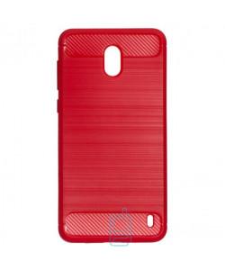 Чехол силиконовый Polished Carbon Nokia 2 красный