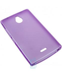 Чехол силиконовый цветной Nokia X2 Dual Sim фиолетовый