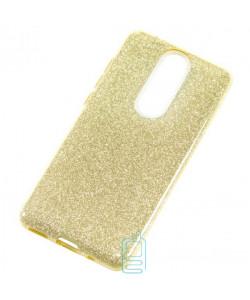 Чехол силиконовый Shine Nokia 7.1 золотистый