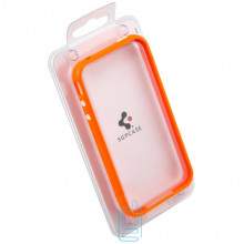 Чехол-бампер пластиковый Apple iPhone 4 оранжевый