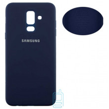 Чехол Silicone Cover Full Samsung A6 Plus 2018 A605 синий