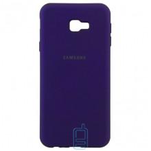 Чехол Silicone Case Full Samsung J4 Plus 2018 J415 фиолетовый