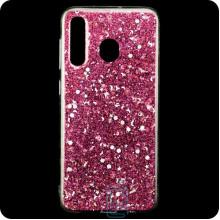 Чехол силиконовый Конфетти Samsung M30 2019 M305 розовый