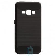 Чехол силиконовый Polished Carbon Samsung J1 2016 J120 черный