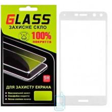 Защитное стекло Full Screen Huawei Y5 2017, Y6 2017 white Glass