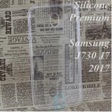 Чехол силиконовый Premium Samsung J7 2017 J730 прозрачный