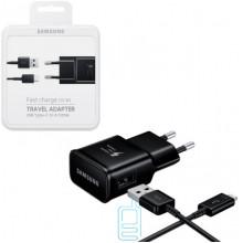 Сетевое зарядное устройство Samsung S8 Fast charger 1USB 2.0A Type-C black пластик