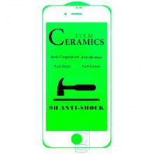 Защитное стекло Ceramics Anti-shock Apple iPhone 7, iPhone 8 white тех.пакет